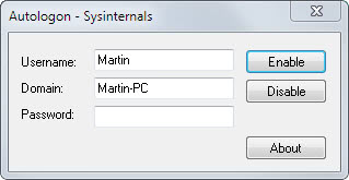 autologon for windows