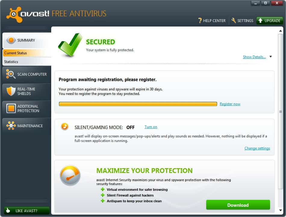 Avast 6 antivirus software with autosandbox web rep Anti virus programs