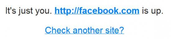 facebook down check