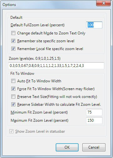 firefox default zoom level