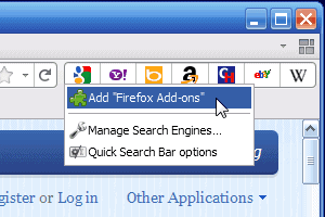 firefox quick search bar