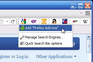 firefox quick search bar