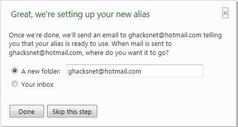 hotmail alias