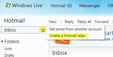 hotmail email alias