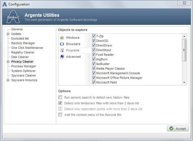 Argente Utilities, Free System Maintenance Tool - gHacks