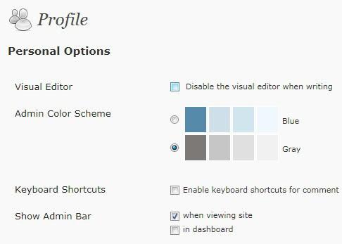 wordpress disable admin bar
