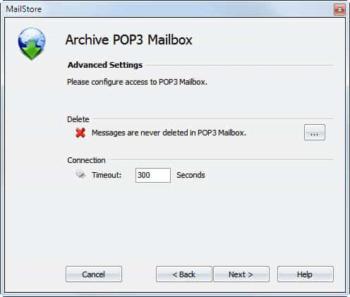 archive pop3 mailbox