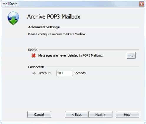 archive pop3 mailbox