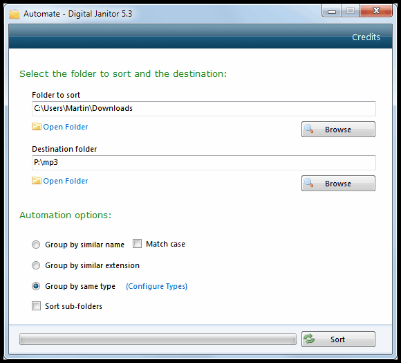 automate file organization