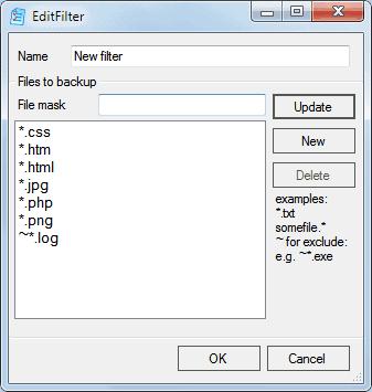 backup file filter