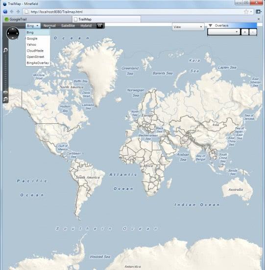 bing web map