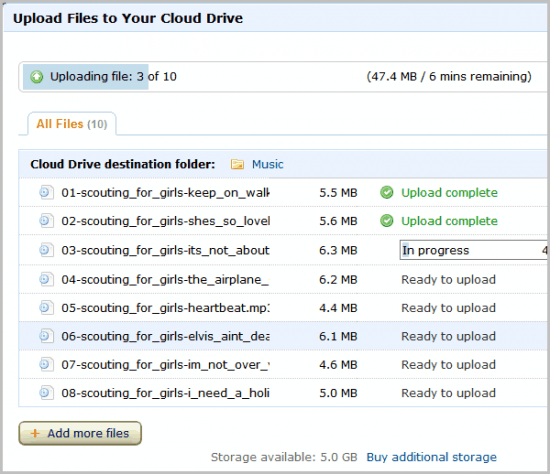 cloud drive upload