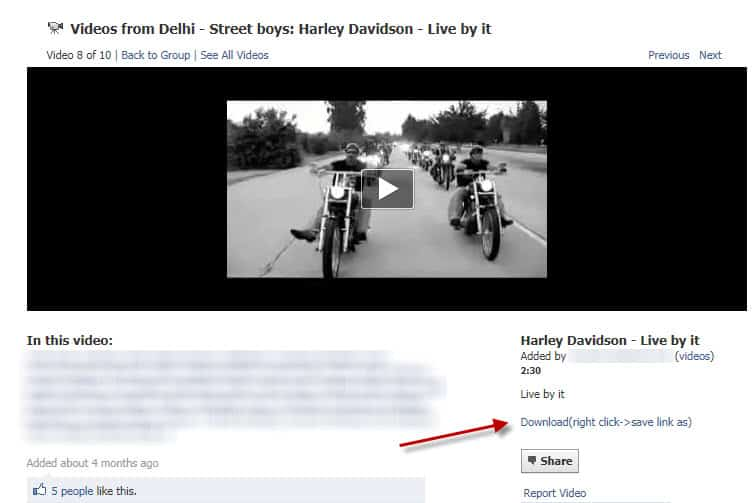 how to make a download link on facebook page
