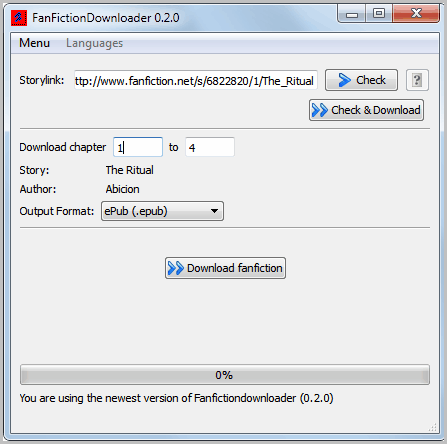 fanfiction downloader