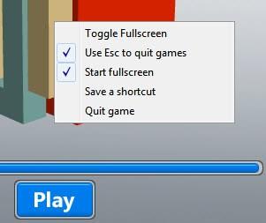 fullscreen game shortcut