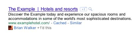 google +1d -this