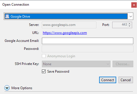 google drive connect