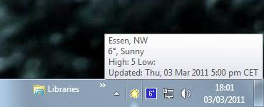local temperature