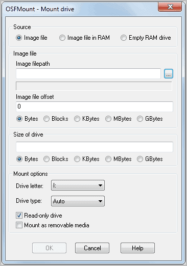Mount Disk Images With OSFMount - gHacks Tech News