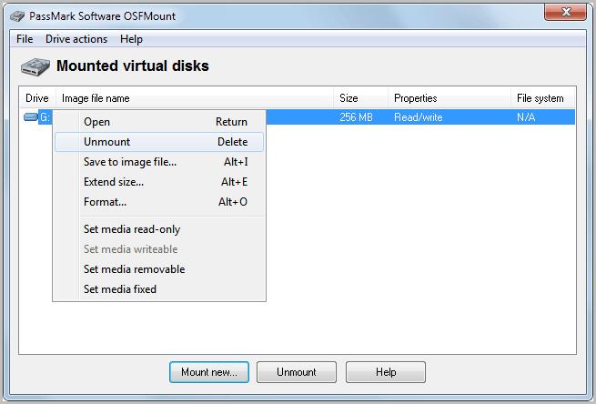 mounted virtual disks