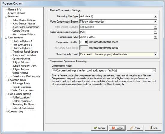 program options