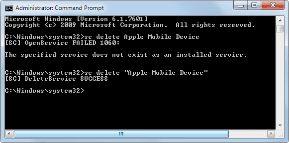 what does apple mobile device service not started mean
