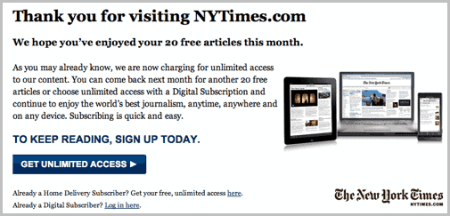 Thank You for Visiting NYTimes com – How to Bypass « WTI NewsBlog