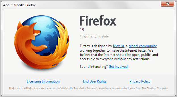 about firefox