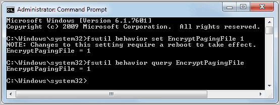 encrypt windows pagefile