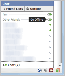facebook chat go offline