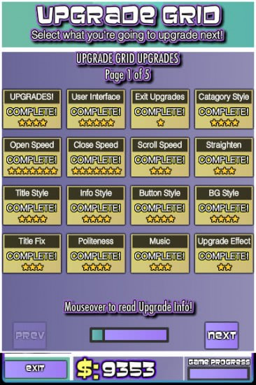 game upgrades