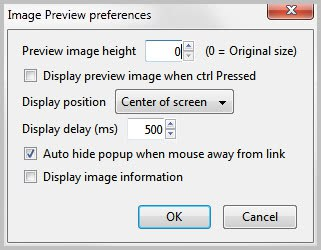 image preview preferences