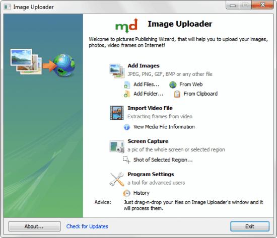 image uploader