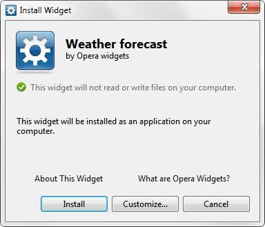 install widget