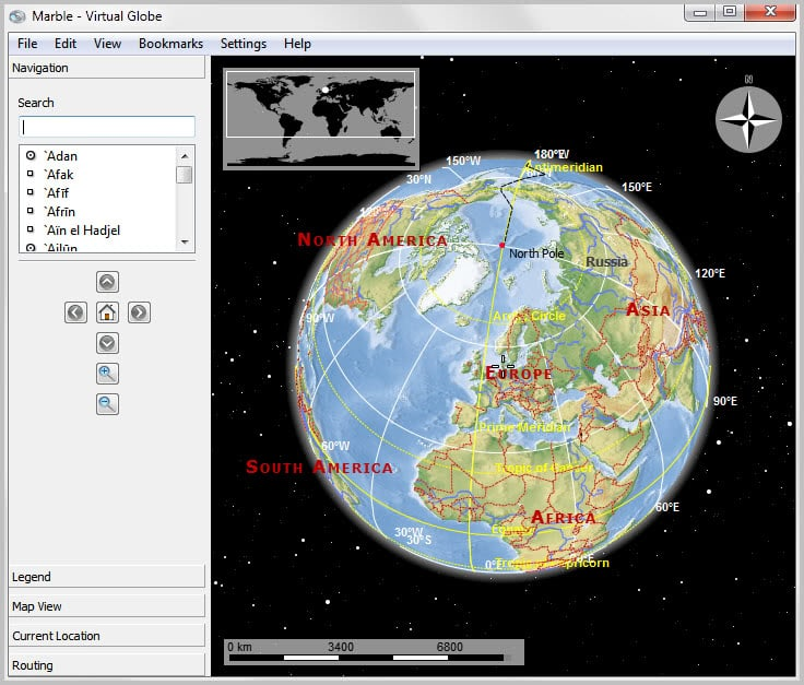 Marble Virtual Interactive Globe GHacks Tech News - Interactive globe map