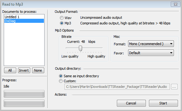 convert text to mp3