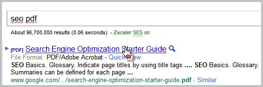 Cursor Indicator, Indicates PDF, Doc, Exe File Links On The Internet