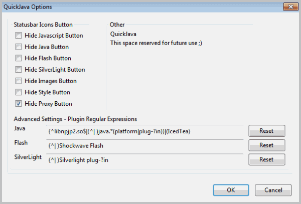 disable plugins