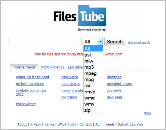 Filestube File Search Engine