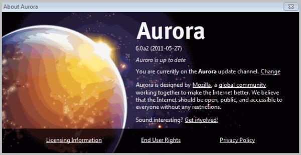 firefox 6 aurora