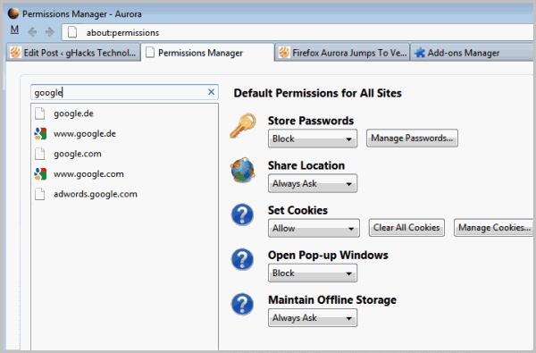 Firefox Aurora Jumps To Version 6 - gHacks Tech News