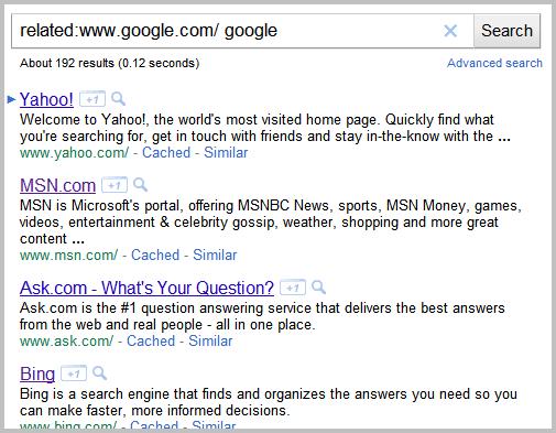 google similar