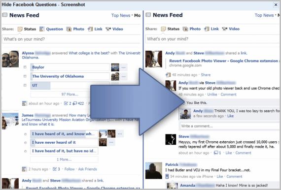 hide facebook polls