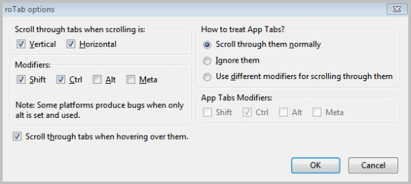 scroll tabs mouse