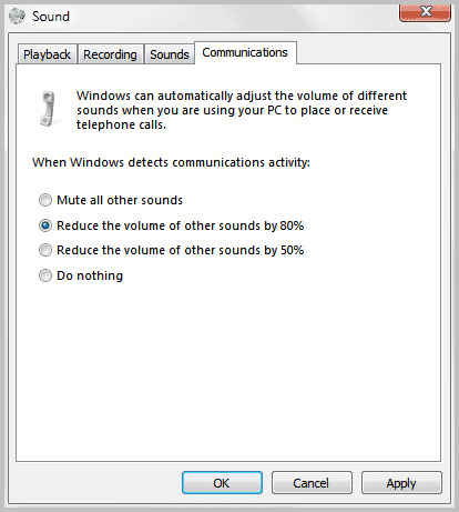sound adjust volume