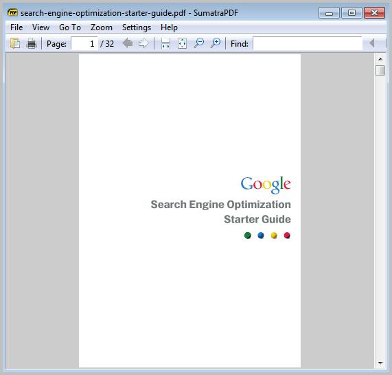 sumatra pdf reader interface