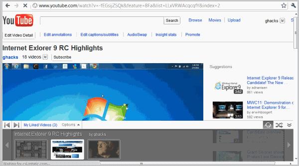 youtube gray bar