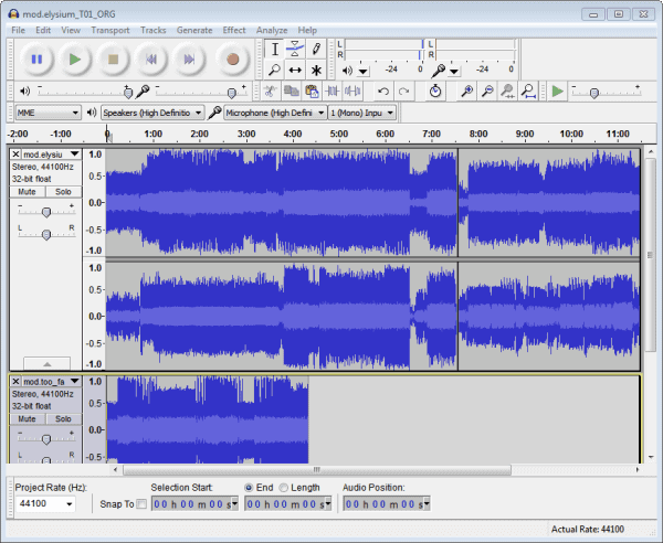 audacity merge mp3