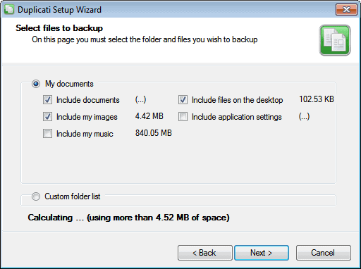 backup folders