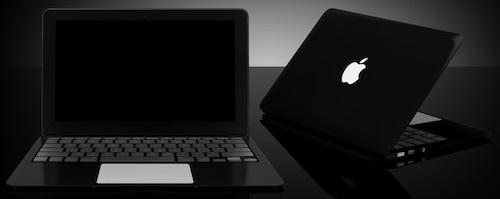 black macbook air